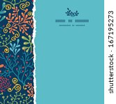 dark plants square torn border... | Shutterstock .eps vector #167195273