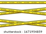 vector set of restriction tapes ... | Shutterstock .eps vector #1671954859