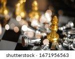 the winner in chess game....   Shutterstock . vector #1671956563
