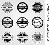 set of vintage premium retro... | Shutterstock .eps vector #1671960676