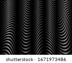 black and white wavy lines... | Shutterstock .eps vector #1671973486