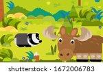 cartoon scene with different... | Shutterstock . vector #1672006783