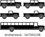 set of off road vehicles