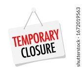 Temporary Closure On Door Sign...