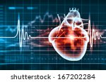 virtual image of human heart... | Shutterstock . vector #167202284