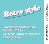 vector of retro colorful font... | Shutterstock .eps vector #1672025533