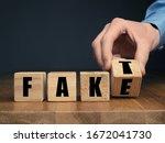 German Fake Or Fact Concept...