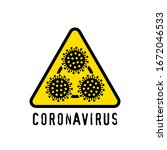 coronavirus symbol concept.... | Shutterstock .eps vector #1672046533