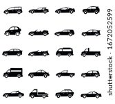 set of car icon vector  cars...