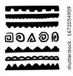 hand drawn black borders  and... | Shutterstock .eps vector #1672054909