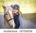 portrait of teenage girl with... | Shutterstock . vector #167206556
