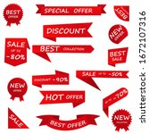 price tag and best sale ... | Shutterstock .eps vector #1672107316