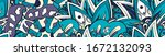 tracery seamless pattern.... | Shutterstock .eps vector #1672132093