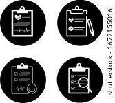 medical report icons set....   Shutterstock .eps vector #1672155016
