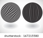 set of vector abstract globes  | Shutterstock .eps vector #167215580
