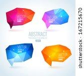 set of abstract speech balloons ... | Shutterstock .eps vector #167215670