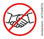 no handshake sign vector...   Shutterstock .eps vector #1672168276