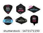 grunge label set  vector... | Shutterstock .eps vector #1672171150