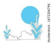 bushes with plants scene... | Shutterstock .eps vector #1672206796