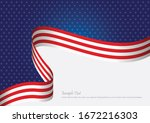 usa flag background concept for ... | Shutterstock .eps vector #1672216303