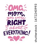 omg  mom  you were right about... | Shutterstock .eps vector #1672240993