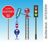 happy valentine's day | Shutterstock .eps vector #167225354