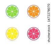 flat icon citrus fruit... | Shutterstock .eps vector #1672278070