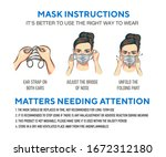 how to wear a mask correct... | Shutterstock .eps vector #1672312180