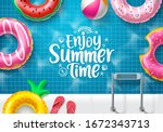 Summer Time Vector Banner...