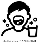 gargle vector icon illustration ...   Shutterstock .eps vector #1672348870