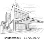 architectural sketch.... | Shutterstock .eps vector #167236070