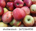 Bunch  Apples On Boxes In...