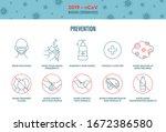 2019 ncov wuhan coronavirus... | Shutterstock .eps vector #1672386580