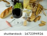 red wine in transparent glass... | Shutterstock . vector #1672394926