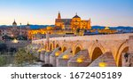 mezquita cathedral and roman...   Shutterstock . vector #1672405189