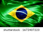 Brazil Flag Of Silk And World...