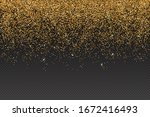 vector realistic gold glitter... | Shutterstock .eps vector #1672416493