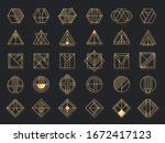 art deco geometric shapes.... | Shutterstock .eps vector #1672417123