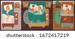 couple of people sleeping. man...   Shutterstock .eps vector #1672417219