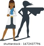 a young asian woman medical... | Shutterstock .eps vector #1672437796