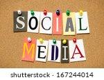social media from cutout... | Shutterstock . vector #167244014