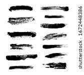 monochrome abstract vector set... | Shutterstock .eps vector #1672448386