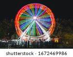 Fairground And Colourful Ferris ...