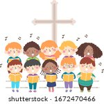 Illustration Of Kids Choir...