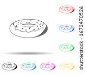 donut multi color style icon....