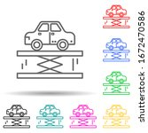 car lifter multi color style...