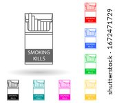 open pack of cigarettes multi...