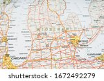 michigan state on the map   Shutterstock . vector #1672492279
