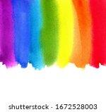 watercolor rainbow. abstract...   Shutterstock .eps vector #1672528003