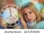 new year's concept. young... | Shutterstock . vector #167253434